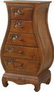 International Caravan 3865 Five Drawer Bombay What Not Chest, Brown Stain