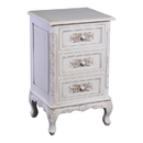 International Caravan 3948-AW Carved Wood Three End Table, Antique White