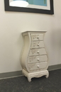 International Caravan 3965-AW Carved Wood Five Drawer Bombay What Not