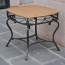 International Caravan 4112-ST Valencia Resin Wicker/Steel Square Round Side Table