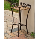 Valencia Resin Wicker/Steel Square Plant Stand