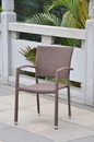 International Caravan Barcelona Resin Wicker Square Back Dining Chair