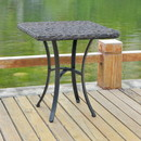 International Caravan 4405-TBL-DCF Ibiza Resin Pandan/Aluminum Polywood Top Square Bistro Table - Dark Coffee
