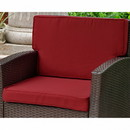 International Caravan CS-4141-S2-MT Valencia Corded Replacement Cushions Only for Valencia Chair (Set of 2)-Merlot
