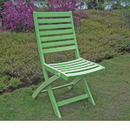 Acacia Set of Two Folding Ladder Back Chair with Mint Green Finish