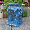 International Caravan Navy Blue Contemporary Elephant Ceramic Garden Stool
