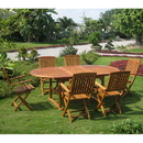 International Caravan OVE-017-FA-40-6CH Royal Tahiti Alicante 7-Piece Dining Group, Stain