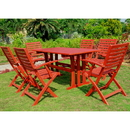 Sciacca Acacia Wood Seven Piece Dining Group