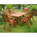 International Caravan RE-07-PC-102-6CH Royal Tahiti Granada Set of Seven Patio Set, Stain