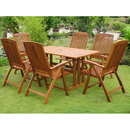 International Caravan RE-07-PC-41-6CH Royal Tahiti La Coruna 7-Piece Patio Set, Stain