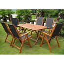 International Caravan RE-54-PC-27-6CH Lourdes Royal Tahiti 7-Piece Patio Set, Stain