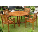 International Caravan RT-005-1B-043-4CH Royal Tahiti Navata Round Dining Set, Stain