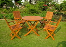 International Caravan RT-029-FA-040-4CH Royal Tahiti Five Piece Vigo Group Set, Stain