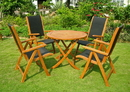 International Caravan RT-029-PC-027-4CH Caceres Royl Tahiti 5-Piece Patio Set, Stain