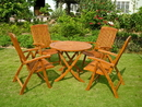 International Caravan RT-029-PC-041-4CH Royal Tahiti Cartagena 5-Piece Dining Set, Stain