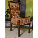 International Caravan Set of Two Dallas Abaca Weave Dining Chair