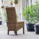 International Caravan Manila Abaca/Rattan Wicker Dining Chair (Set of 2)