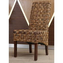 International Caravan Set of Two Victor Woven Abaca Dining Chair