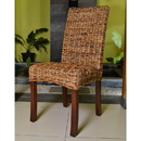 International Caravan Louisa Abaca Cushioned Seat Dining Chair