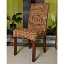 International Caravan Set of Two Louisa Abaca Cushioned Seat Dining Chair