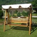 International Caravan Royal Tahiti 3 Seater Swing with A-Frame and Canopy