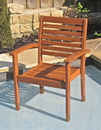 International Caravan TT-1B-043-2CH Royal Tahiti Oslo Outdoor Contemporary Chair, Brown Stain, Set of 2