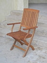 International Caravan TT-FA-40-2CH Royal Tahiti Set of 2 Outdoor Folding Arm Chairs, Brown Stain