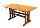International Caravan TT-RE-007 Royal Tahiti Outdoor Wood Rectangular Dining Table, Brown Stain