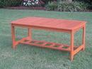 International Caravan TT-RE-013 Royal Tahiti Gulf Port Rectangular Wood Coffee Table, Brown Stain