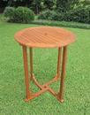 International Caravan TT-RT-015 Royal Tahiti Outdoor Wood Bar Height Round Table, Brown Stain