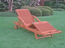 International Caravan TT-SL-012 Royal Tahiti Outdoor Chaise Lounge with Multi Sectional Deck, Brown Stain