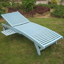 International Caravan Acacia Chaise Lounge with Pull Out Tray