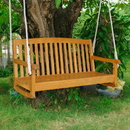 International Caravan Acacia Two Seater Swing With Curved Back