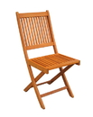 International Caravan TT-VN-0128-CHR Royal Tahiti Set of 2 Outdoor Folding Garden Chair, Brown Stain