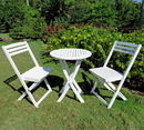 International Caravan Set of 3 Acacia Folding Bistro Set