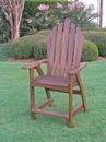International Caravan VF-4106-2CH Wood Adirondack Bar Chair, Brown