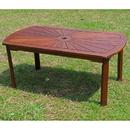 International Caravan Highland Acacia Sunburst Coffee Table