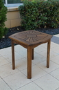 International Caravan VF-4135 Sun Burst Square/Round Side Table, Brown