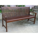 International Caravan VF-4409 Highland Acacia Hudson Three Seater Park Bench, Brown