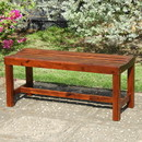 International Caravan VF-4510-ST Highland Acacia Americana 55-inch Backless Bench with Contoured Seat - Oil Acacia Stain