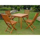 International Caravan VN-0128TBL-VN-0128-4CH Royal Tahiti Antequera Set of Five Patio Set, Stain
