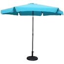 International Caravan Outdoor 9 Foot Aluminum Umbrella With Flaps