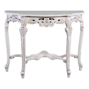 International Caravan Windsor Hand-Carved Half Moon Console Table