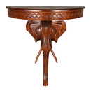 Windsor Carved Exotic Elephant Wall Table