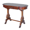 International Caravan Windsor Carved Wood Writing Table with Flip-up Drawers