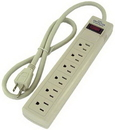 IEC ADP8000 Surge Suppresser Strip with 6 Outlets and 3 Foot Cord with Perpandicular Sockets
