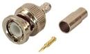 IEC BNC-RG58-PL BNC Male Coax Connector for Plenum RG58