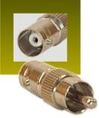 IEC BNCF-RCAM BNC Female to RCA Male Coax Adapter