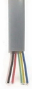 IEC CAB006-MP 28 Gauge 6 Conductor Silver Satin Cable Priced by the Foot