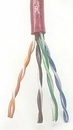 IEC CAB008-MP-L5-RD 24 Gauge 4 Pair Stranded Category 5e Red Cable Priced by the Foot